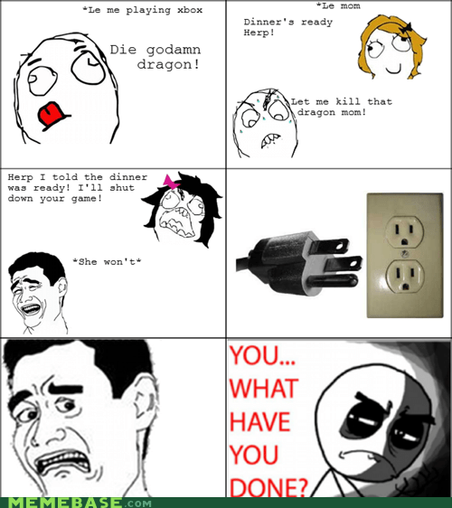 mom,Rage Comics,unplug,video games