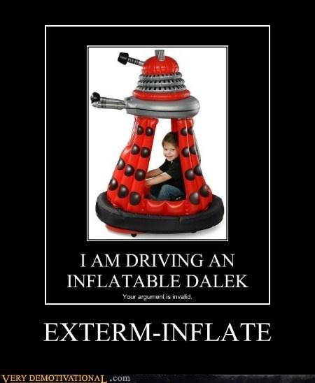 dalek doctor who hilarious - 5492417536