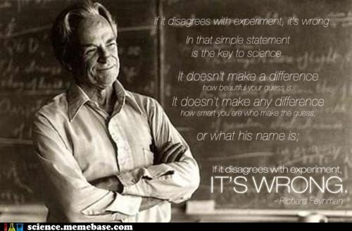 experiment,Professors,richard feynman,scientific method,wrong