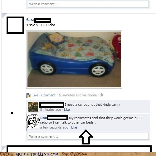 bed,car,facebook,radio