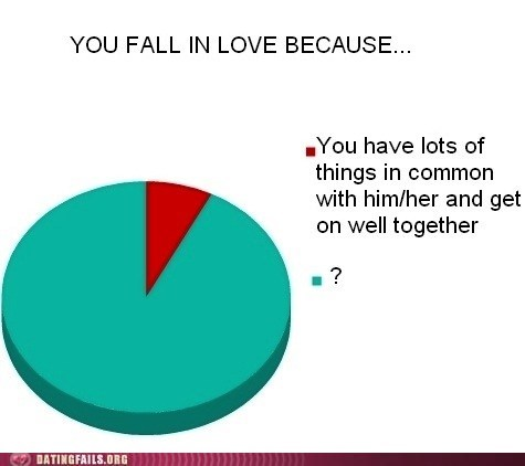 Chart,falling in love,graph,msyery,Pie Chart,We Are Dating