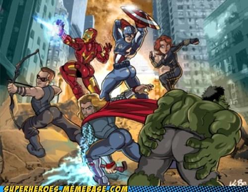 avengers Awesome Art Black Widow captain america hawkeye hulk iron man provocative sexy pose - 5492763136