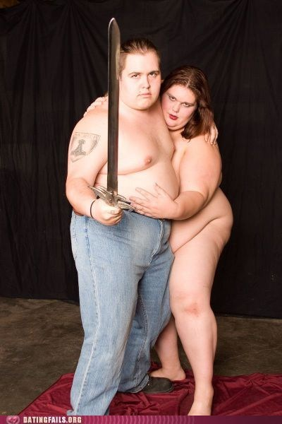 couple,dragon,jeans,naked,nekkid,photo op,sword,thar she blows,We Are Dating