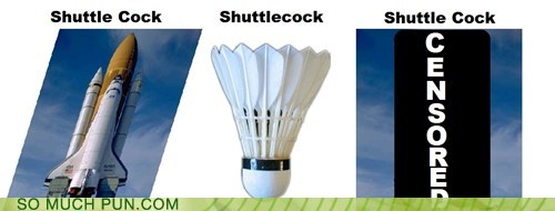 double meaning,innuendo,literalism,shuttle,shuttlecock,triple meaning