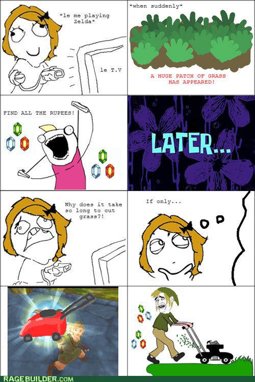 best of week,lawnmower,legend of zelda,Rage Comics,wii