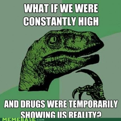 addiction drugs high philosoraptor reality whoa - 5492869376