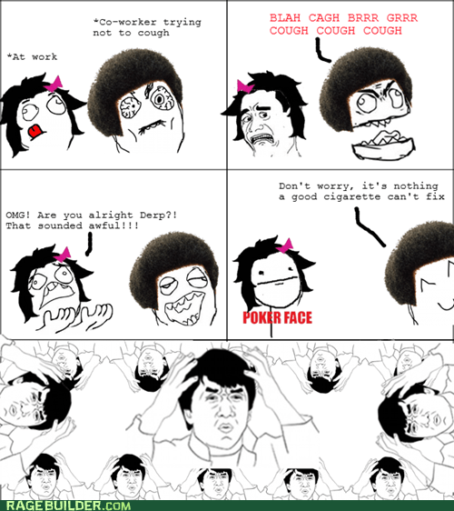 cough,Rage Comics,smoking,wtf