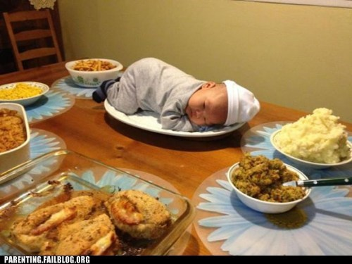 baby,center piece,food,holiday,meal,Parenting Fail,thanksgiving,Turkey