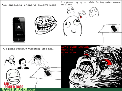 phone Rage Comics silent mode vibrate - 5492900352