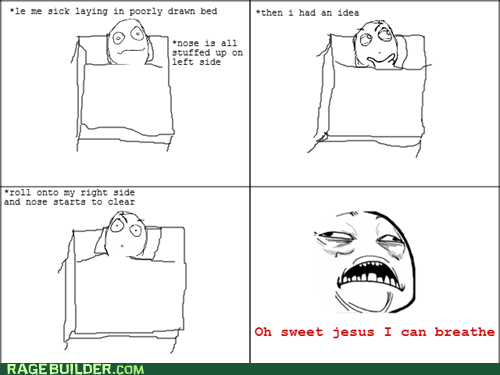 breathe,Rage Comics,relief,stuffy nose,sweet jesus have mercy