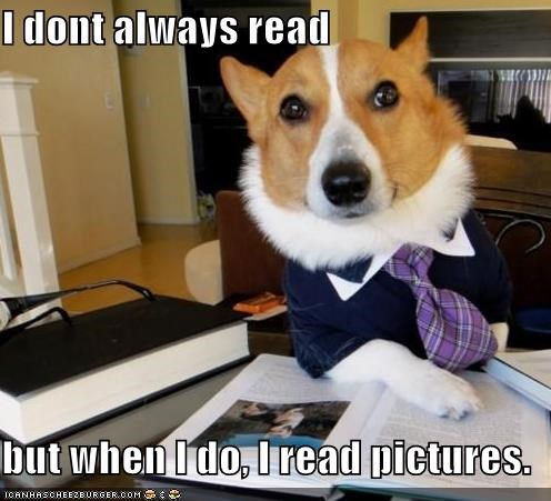 I dont always read but when I do, I read pictures.