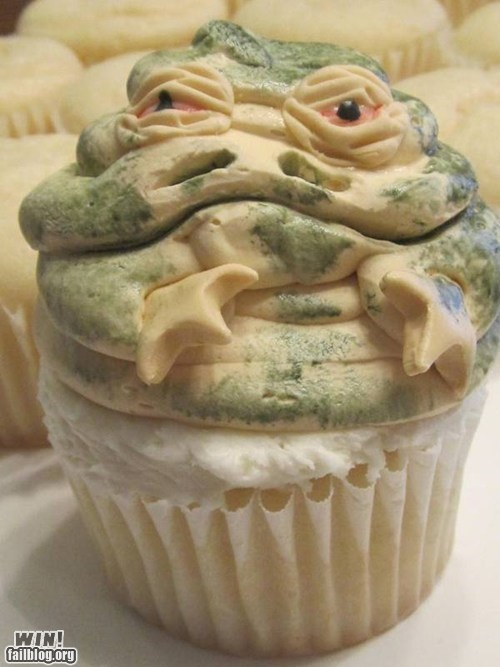 cupcakes dessert food jabba the hutt nerdgasm star wars - 5493123328