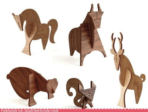 animals decoration gift guide modern simple wood - 5493173504