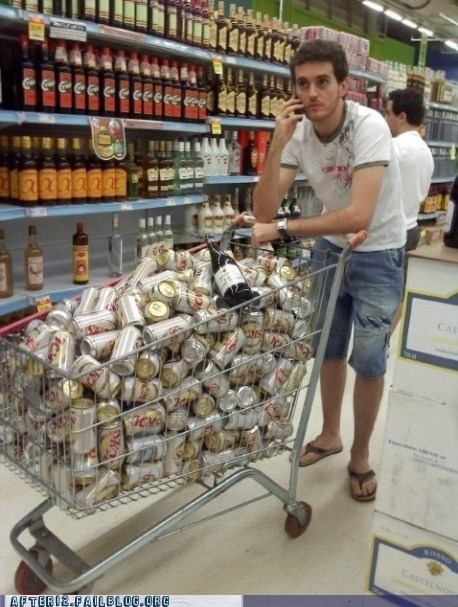 all set beer liquor store shopping shopping cart