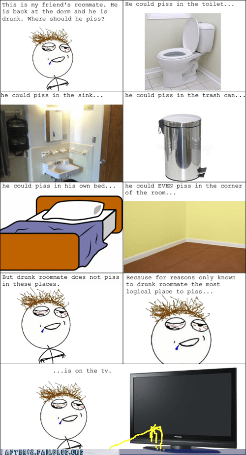 drunk peeing rage comic roommate TV - 5493181696