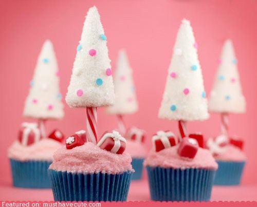cupcakes epicute frosting sugarplums trees - 5493193728