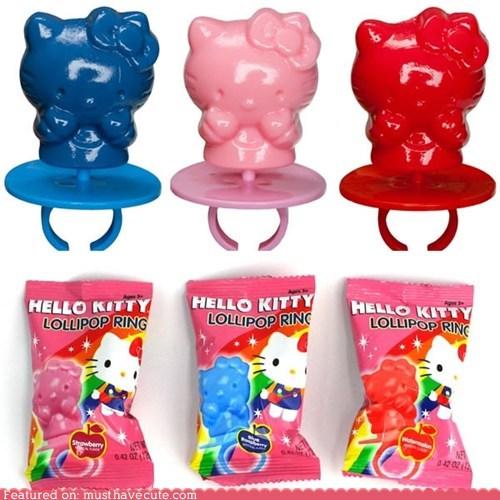 candy hello kitty Jewelry plastic ring pop sugar - 5493254400