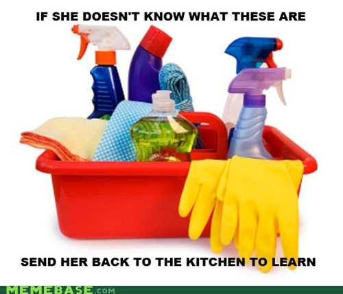 chores cleaning kitchen Too Young for You women - 5493365504