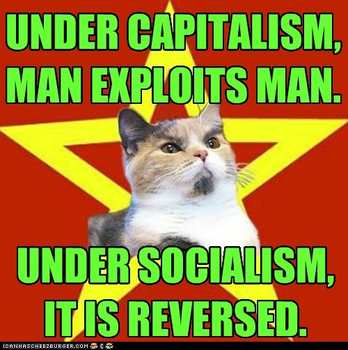 capitalism,exploits,Lenin Cat,man,socialism