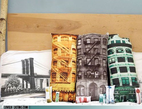 buildings couch pillows