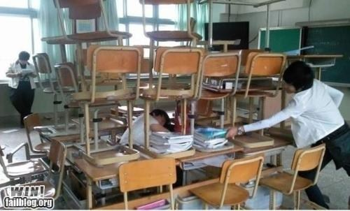 chair,desk,education,nap,prank,school,sleeping