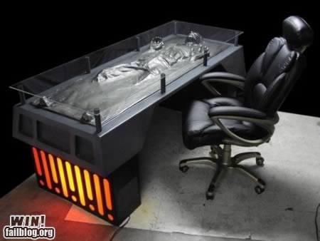 carbonite chair design desk Han Solo nerdgasm star wars - 5493608704