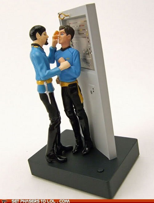 Christmas ornaments Leonard Nimoy McCoy mirror Spock Star Trek - 5493670912