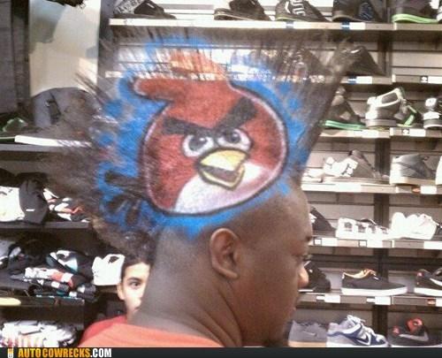 angry birds hair mohawk - 5493868032