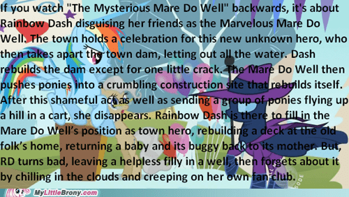 Mysterious Mare-Do-Well Backwards Explanation