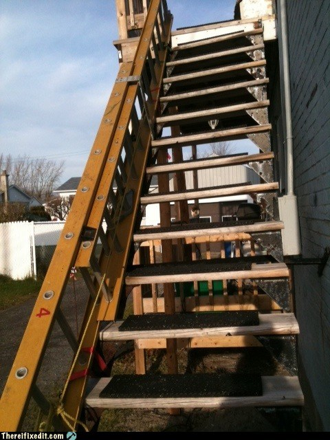 contractor,dual use,ladder,stairs
