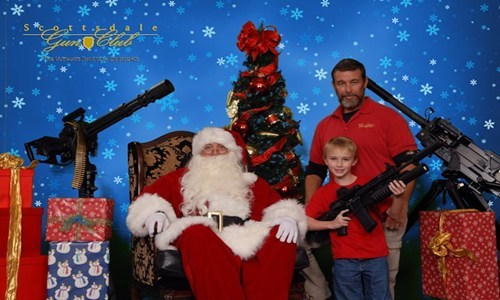 bang,firepower,gun collection,guns,merica,santa,scary