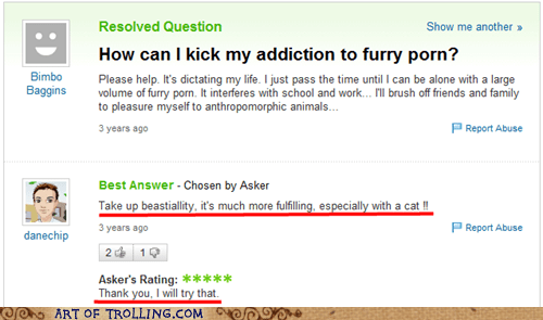 animal love,furry,wtf,Yahoo Answer Fails
