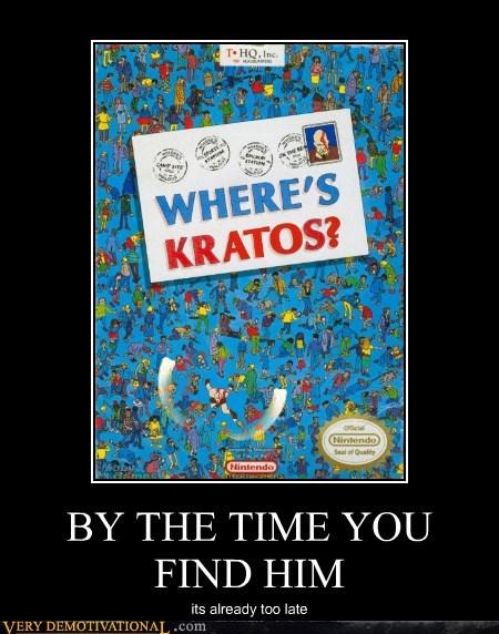 art book hilarious kratos wheres waldo - 5494329344