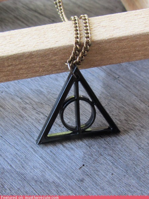 accessories chain deathly hallows gift guide Harry Potter Jewelry necklace pendant - 5494703360