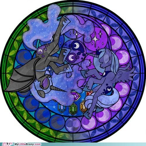 art crossover kingdom hearts luna nightmare moon to the moon - 5494759680