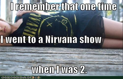 band,nirvana,rocked,show,weird kid