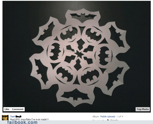 arts and crafts batman image paper snowflake win