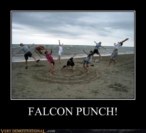 falcon punch hilarious Photo staged
