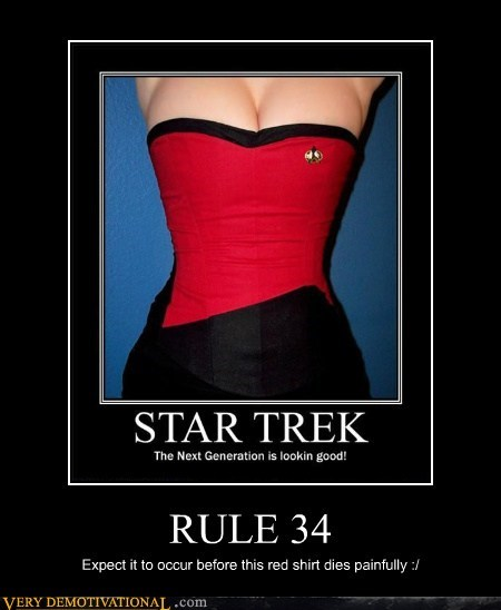 hilarious,red shirt,Rule 34,Star Trek