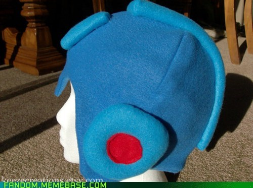 Fan Art fleece hat megaman