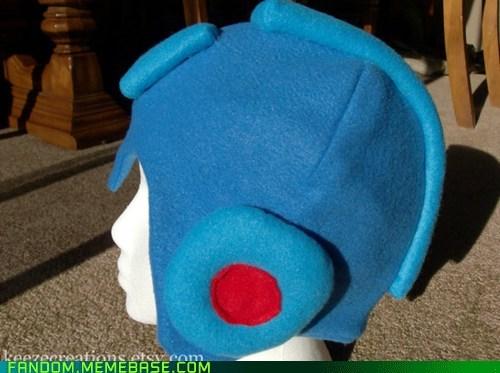Fan Art fleece hat megaman - 5495662592