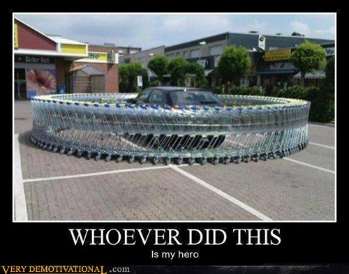 car Pure Awesome shopping cart who ever did this - 5495748608