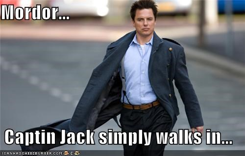 Captain Jack Harkness,john barrowman,mordor,one does not,simply walk,Torchwood