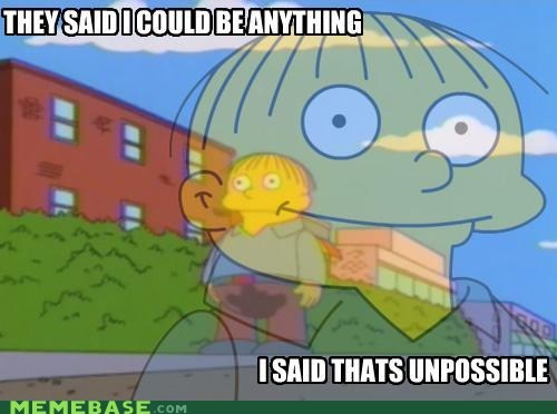 anything PTSD Clarinet Kid Ralph Wiggum simpsons unpossible - 5495987712