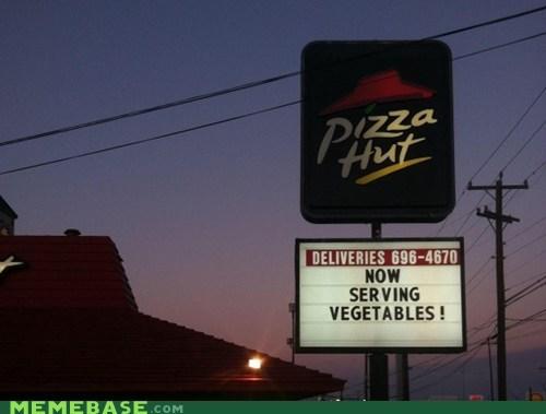 health IRL Memes pizza pizza hut vegetable - 5496028160