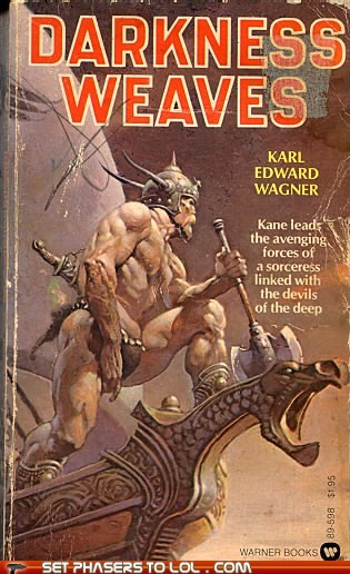 WTF Sci-Fi Book Covers: Darkness Weaves