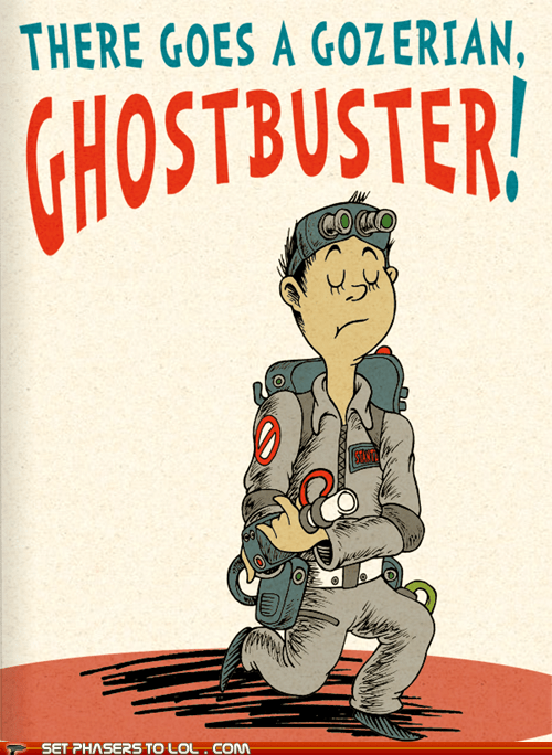 art,dr seuss,drawing,Ghostbusters,gozer