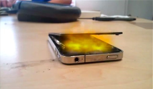 exploding iphone,iphone 4,iphone on fire,Nerd News,Tech