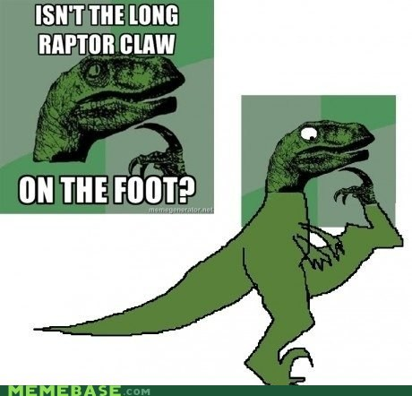 claw foot long philosoraptor Raptor the truth is dinosaur - 5496242688