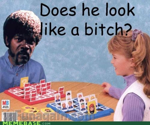 english,games,guess who,Memes,pulp fiction